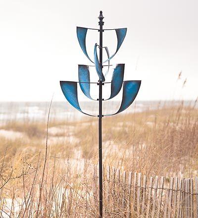 Sapphire Spinner Metal Yard Art