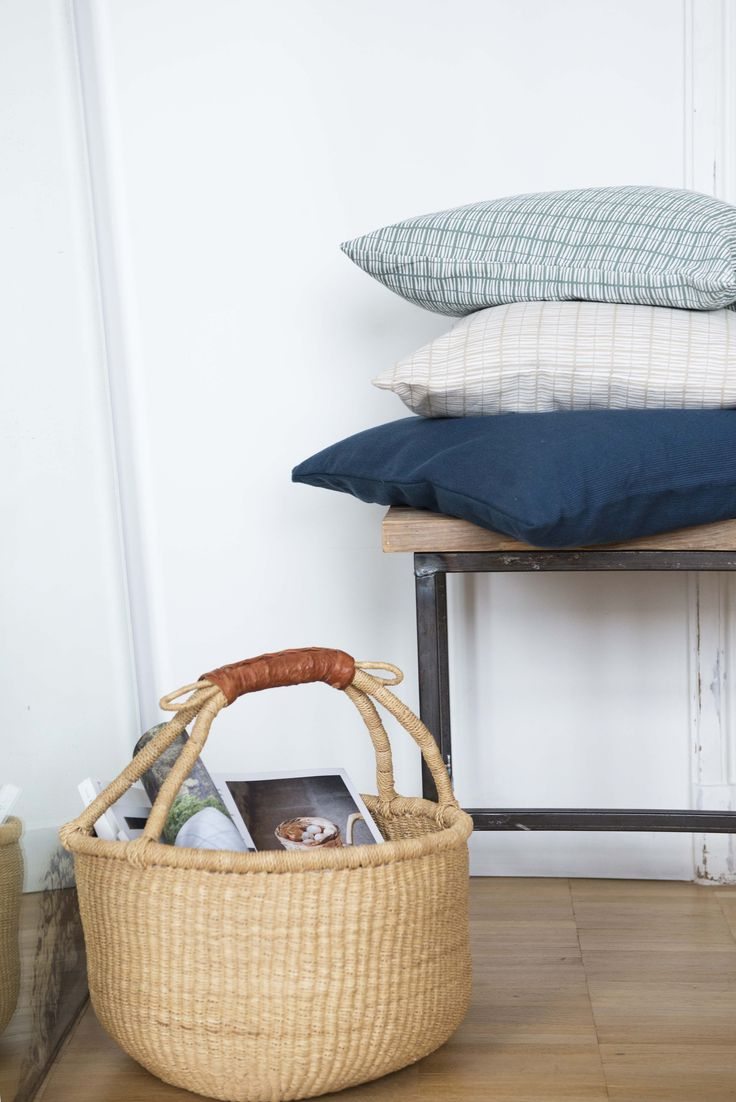 #pillows #basket | Dille & Kamille