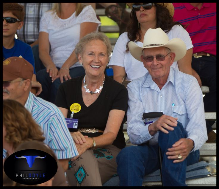Clyde and Elsie Frost visit the Livermore rodeo 2014