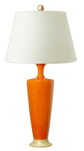 orange table lamp