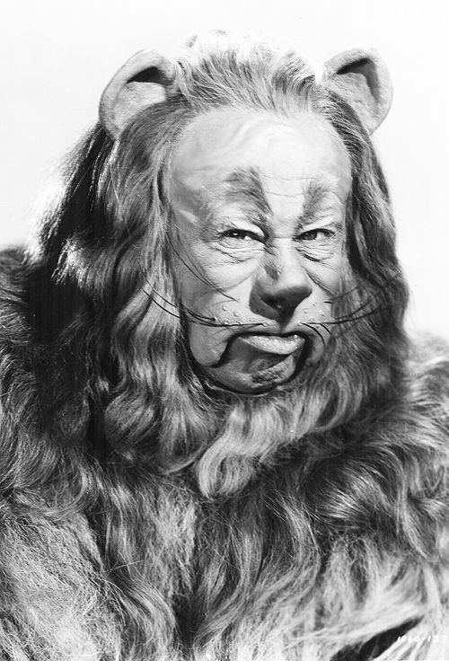 Bert Lahr as the 'Cowardly Lion', in a promotional photo for 'The Wizard of Oz', 1939. ☀