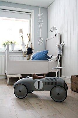 Grey and white boyroom
