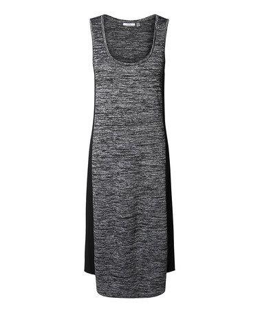 Look at this #zulilyfind! Charcoal & Black Space-Dye Scoop Neck Dress #zulilyfinds