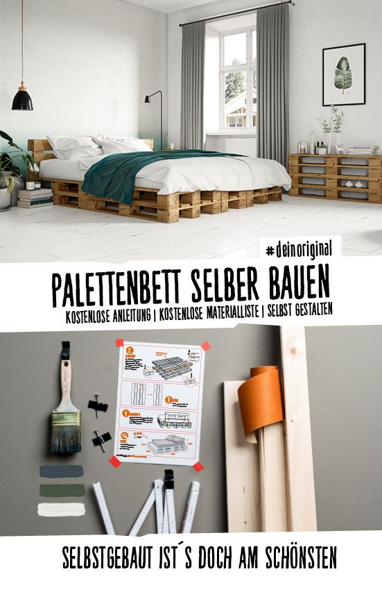 Bett Faulenzer selber bauen - Palettenmöbel | Paletten- & Weinkisten ...