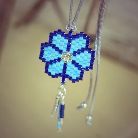 Collier Flower bleu Soline