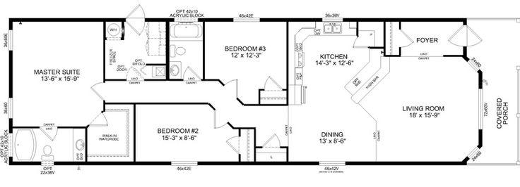 The Allentown- Best Buy Homes | Perfect 3 bedroom mobile home floor plan #Modularhome #Mobilehome #Floorplan #Home