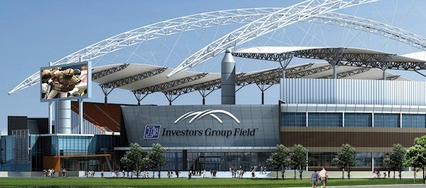Investors Group Field will be the name of the Winnipeg Blue Bombers' new football stadium at the University of Manitoba. (HANDOUT)