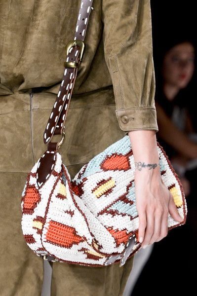 Jo No Fui  S/S '13 | crocheted duffel bag