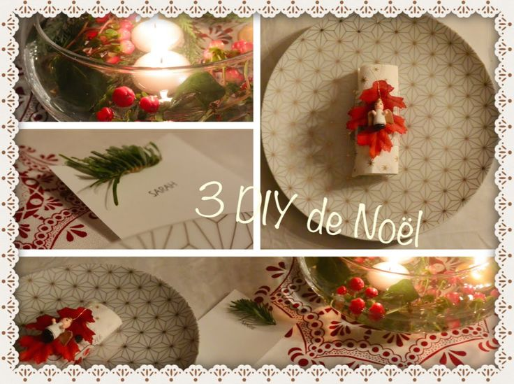 3 DIY pour décorer sa table de Noël