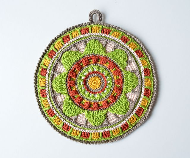 Ravelry: Wheel of Magic Mandala Potholder pattern by Tatsiana Kupryianchyk  $4.50 #crochet