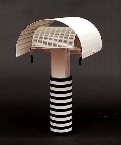 Table lamp Shogun Tavolo design Mario Botta 1986 executed by Artemide / Italy