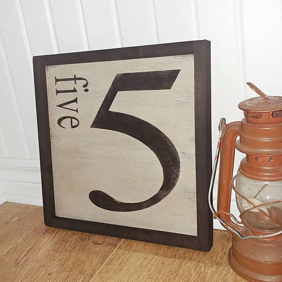 Check out this item in my Etsy shop https://www.etsy.com/ca/listing/527584563/family-number-wood-sign