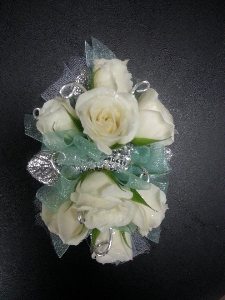 Prom Wrist Corsage with Mint Accents | Bailey's Floral ...