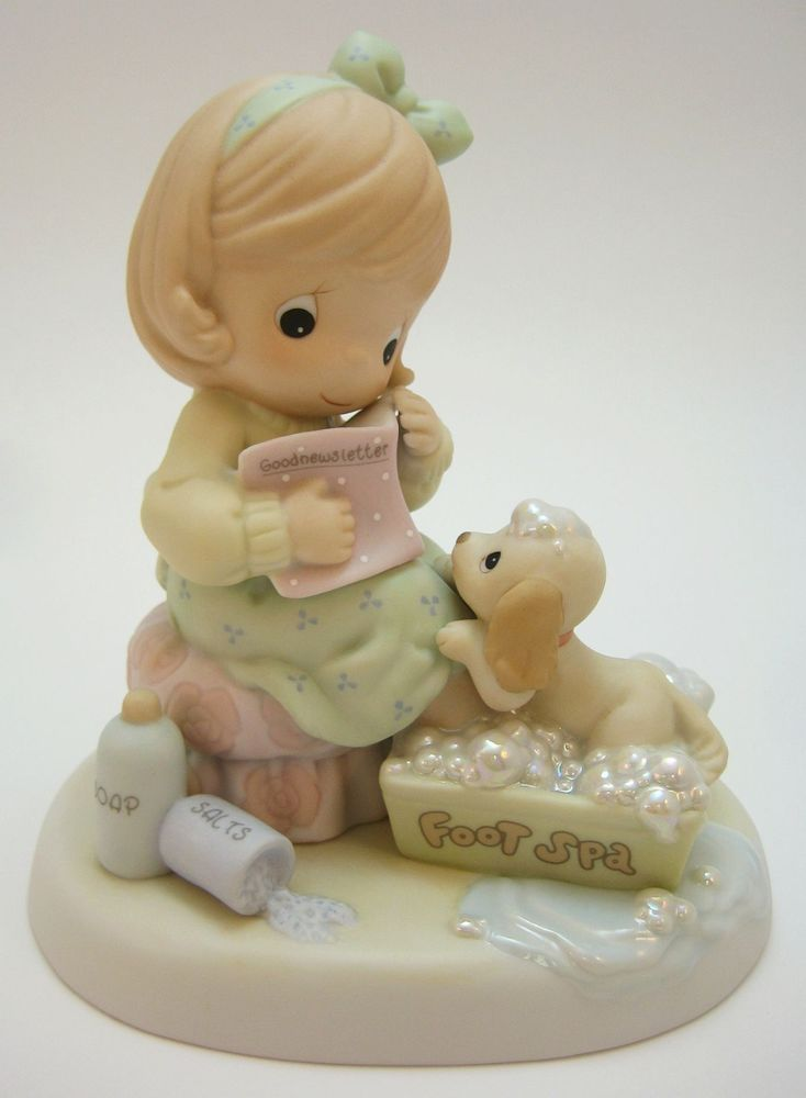 Precious Moments You Are My In-SPA-ration Girl Puppy Foot Spa Mom Mother PM0021 #Figurine