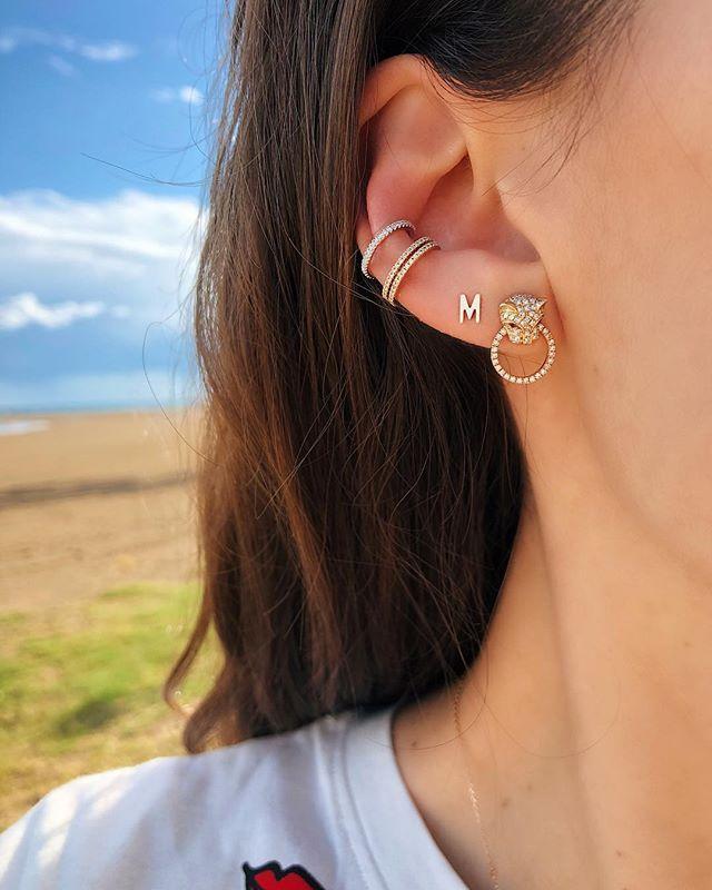 Ling Studs Earrings Hypoallergenic Cartilage Ear Piercing Simple Fashion Earrings Ear Jewelry 925 Sterling Silver Pearl Crystal Earrings