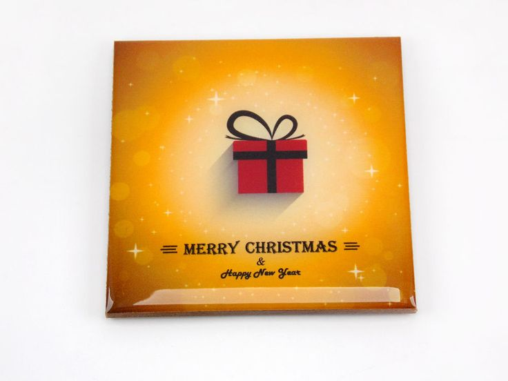 Merry Christmas & Happy New Year Drink Coaster Unique Gift MDF Wood by Osarix