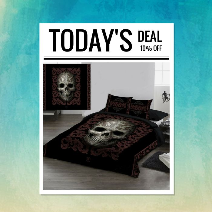 Today Only! 10% OFF this item.  Follow us on Pinterest to be the first to see our exciting Daily Deals. Today's Product: Sale - 10% OFF SKULL Duvet Cover Set - Double Bed Size Buy now: https://small.bz/AAbLq91 #musthave #loveit #instacool #shop #shopping #onlineshopping #instashop #instagood #instafollow #photooftheday #picoftheday #love #OTstores #smallbiz #sale #dailydeal #dealoftheday #todayonly #instadaily