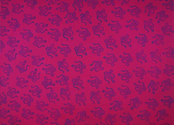 Dressmaking Fabric Blue Printed Cotton Fabric Sewing