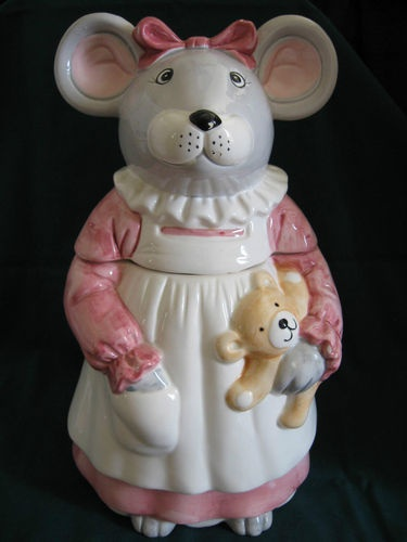 Antique Cute Mouse Cookie Jar Frm Mary Hough's bd: Cookie Jar