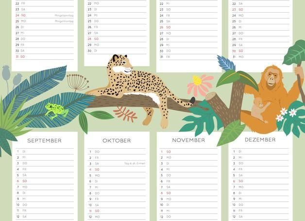 Wandkalender - enna Poster Kalender 2015 - ein Designerstück von enna bei DaWanda