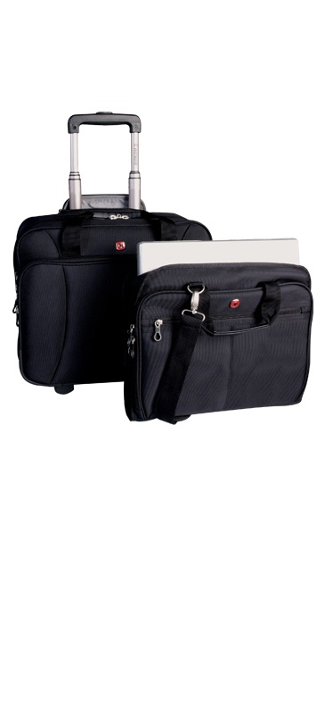 Swiss Gear Deluxe Expandable Business Traveler Roller with removable notebook case, Holiday Group