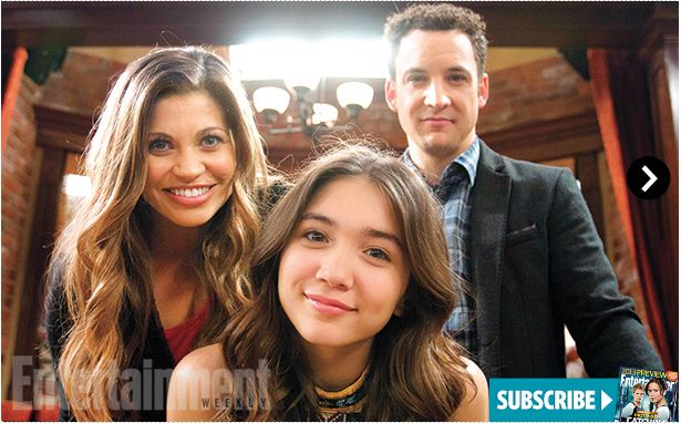 Danielle Fishel, Rowan Blanchard, and Ben Savage #GirlMeetsWorld