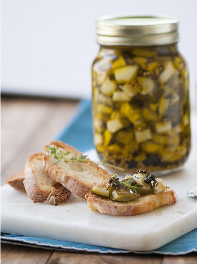 ¡Esta receta me la dedicaron a pedido! Zucchinis en conserva en Espacio Culinario.