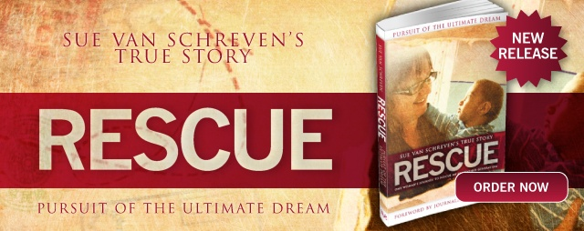 "Our founder Sue van Schreven's amazing true story is an inspiring read. ""Rescue: Pursuit of the Ultimate Dream"" is available at our shop here www.orphansaidinternational.org/shop/index.html"