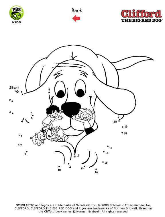 clifford activity pages pbs kids - Clifford Puppy Days Coloring Pages