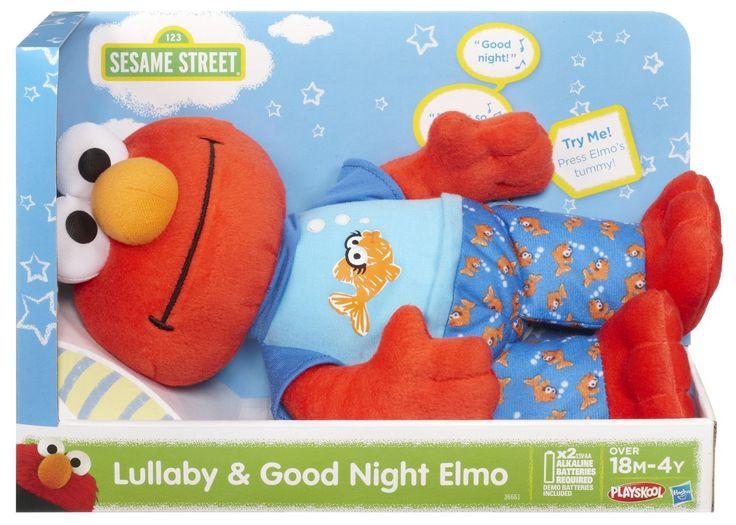 Amazon.com: Sesame Street Playskool Lullaby Good Night Elmo Toy: Toys & Games