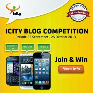 ICITY Blog Competition Berhadiah iPhone 5 Deadline 25 Oktober 2013 | Kuis pesbuk
