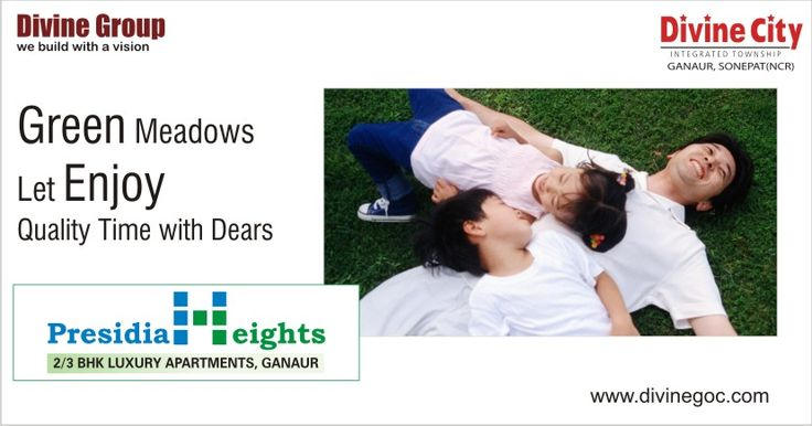 #Engineers of #Divine #Group maintain widely sprawled meadow in every #residential complex. So, you do not need to come out of the premises to enjoy the best of nature. http://www.divinegoc.com/presidia-heights/presidia-heights-overview.php