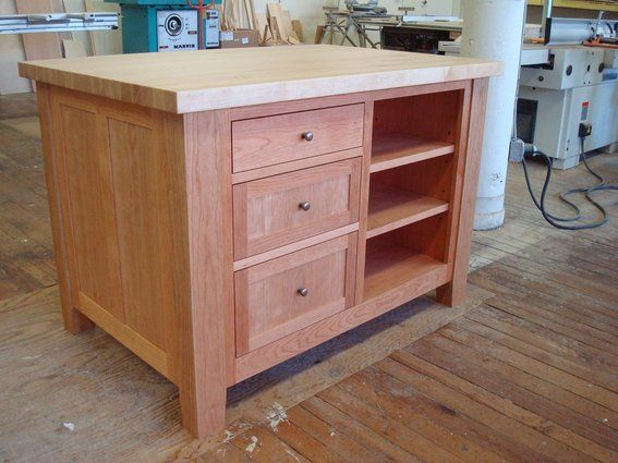 Custom Made Freestanding Kitchen Island