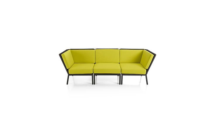 Morocco 3-Piece Sectional with Sunbrella ® Cushions Crate and Barrel