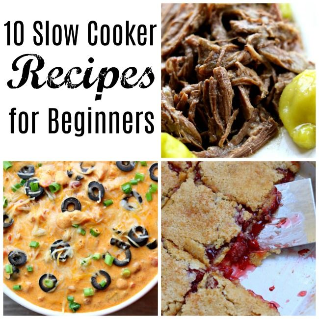 New to the slow cooker (or cooking in general)? Don't be scared! I'm going to share with you 10 easy slow cooker recipes that will make you feel confident in the kitchen. #slowcooker #crockpot