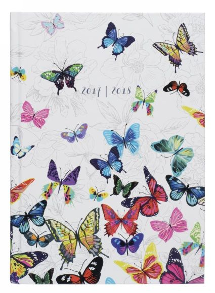 Buy WHSmith Flutterby 2017-18 A5 Board Academic Mid Year Diary Day to Page From WHSmith today