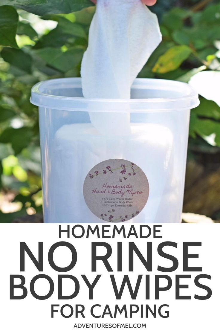 Home made No Rinse Physique Wipes for Tenting