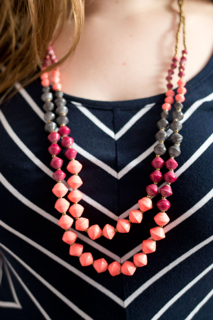 Stitch Fix June 2015 Review: 31 Bits Mediterranean Bead Necklace / hellorigby seattle fashion blog