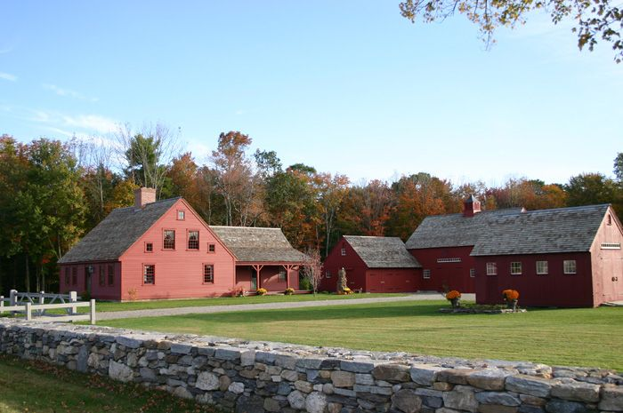 Early new england homes by country carpenters vernacular for New england barn homes