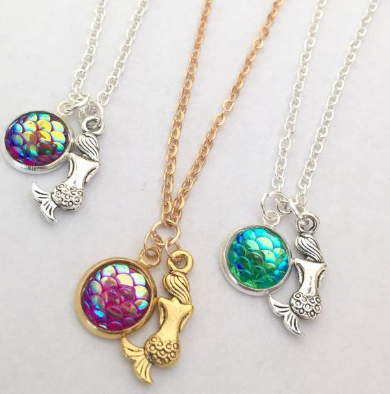 30% Off Cute Mermaid Necklace Gold Or Silver Plated