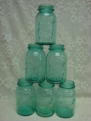 Blue Mason Jars for sale