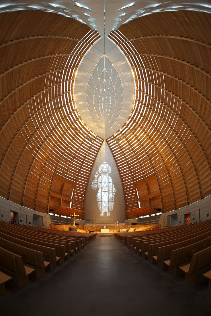 Cathedral of Christ the Light by architect Craig W. Hartman, FAIA of Skidmore, Owings and Merrill. Oakland, California (interior)