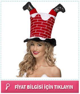 Bacadan Giren Noel Baba Şapkası karşınızda. Yılbaşı partisinde tüm dikkatleri üzerinize toplayacak olan bu sıra dışı şapka ile, yeni yıl eğlencenizi doruklara taşıyabilirsiniz.