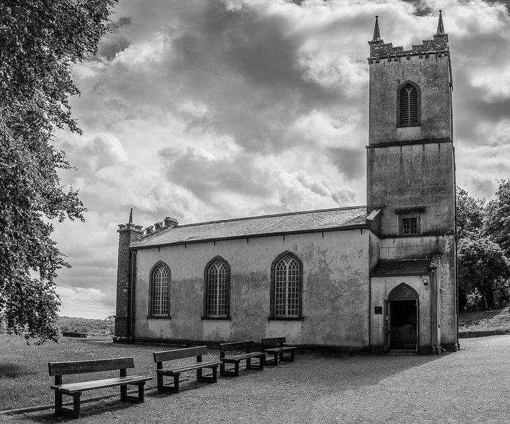 Saint Patricks Church On The Hill Of Tara Bw Photograph by Teresa Wilson
