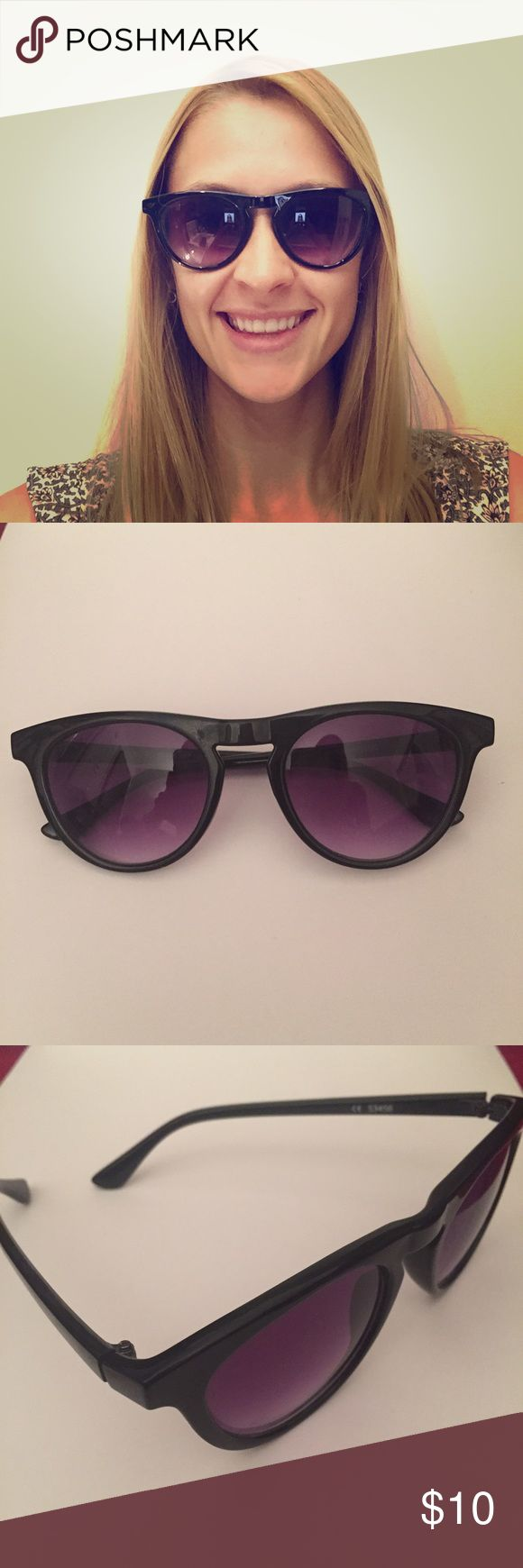 Sunglasses - Oak NYC Black sunglasses with purple tinted lenses from Oak NYC A.J Morgan Accessories Glasses