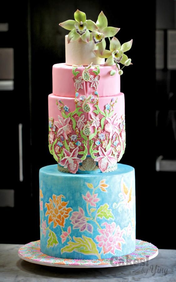 Peranakan Bliss by Cakes! by Ying - http://cakesdecor.com/cakes/207356-peranakan-bliss