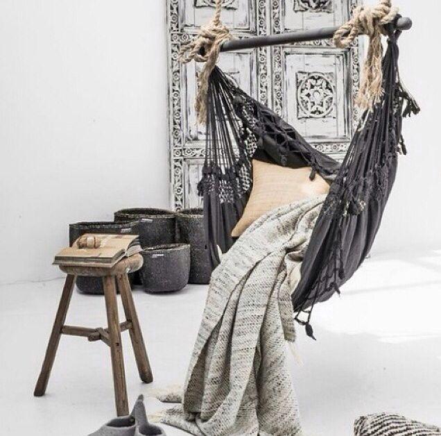 Love this indoor hammock #bohochic