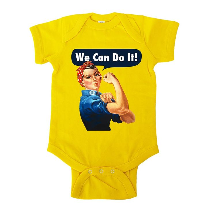 Rosie The Riveter -- Baby Onesie – Feminist Apparel