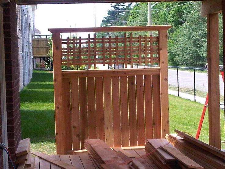 Maloney deck and fence privacy wall privacy for Garden decking fencing