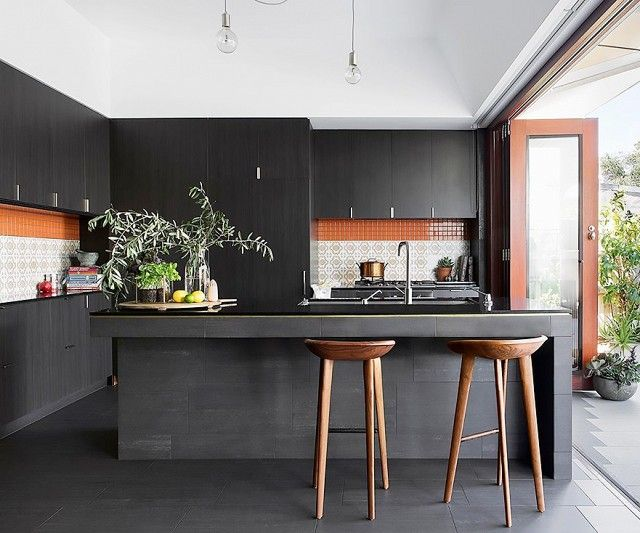 Image result for black kitchen